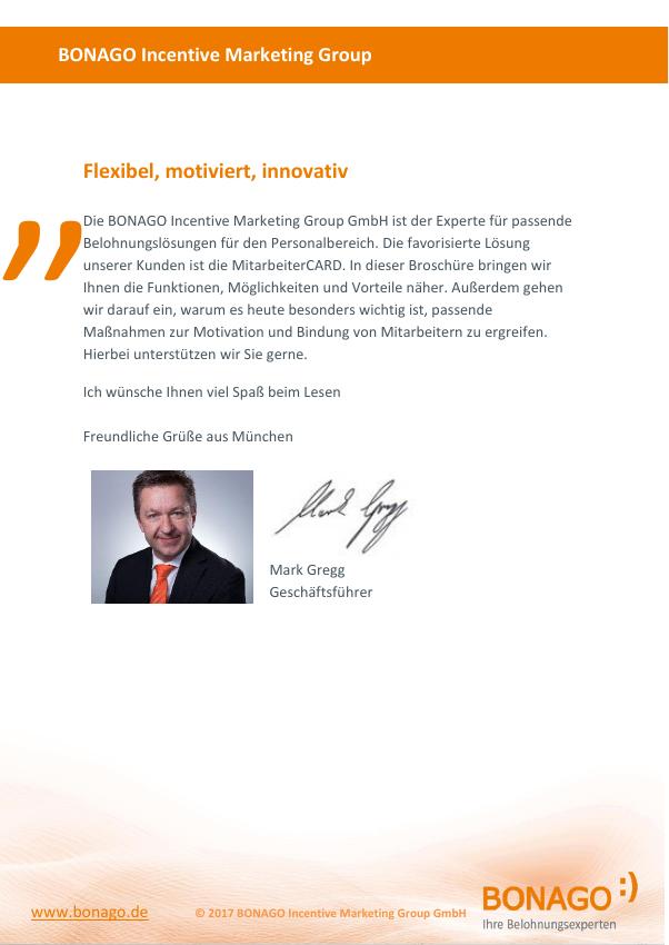 Zusatzservices zur MitarbeiterCARD - BONAGO Incentive Marketing ...