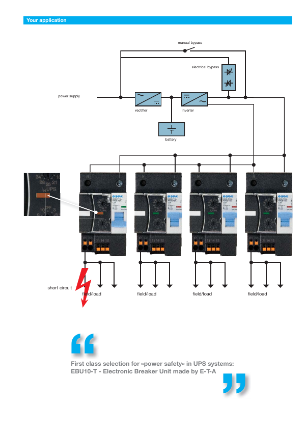 Reliable power safety of UPS units | E-T-A