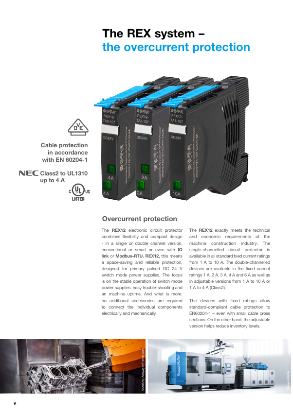 Standard-compliant DC 24 V protection in machine